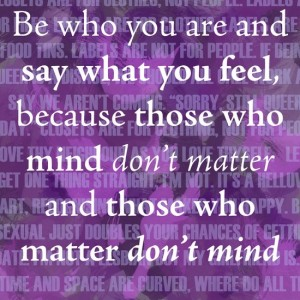 Be who you are Dr Seuss