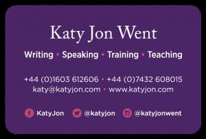 Katy Jon Went business card