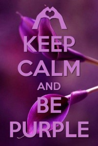 Keep Calm and be Purple