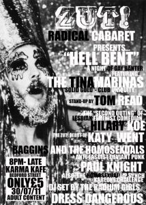 Zut Radical Cabaret, Hell Bent, 30 Jul 11