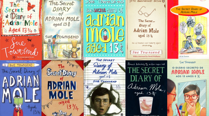 A montage of some of the Secret Diary of Adrian Mole book covers