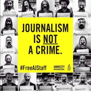 Journalism is not a Crime, Amnesty International #FreeAJStaff