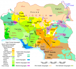Africa's languages around Nigeria