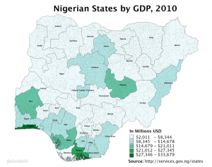 Nigerian States by GDP