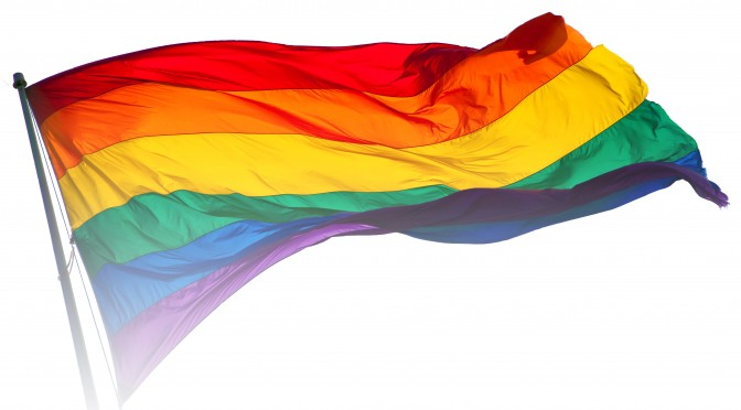 Rainbow flag in the breeze
