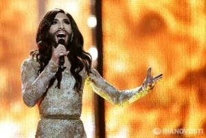 Conchita Wurst performs at Eurovision 2014