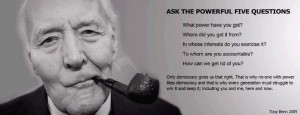 Tony Benn power democracy quote 2005