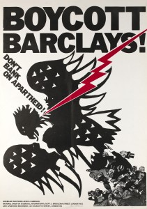 Boycott Barclays Don't Bank on Apartheid NUS Poster