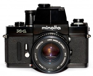 Minolta X-1 XM XK manual film camera 1973