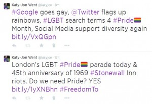 #Pride hashtag on Twitter 2014