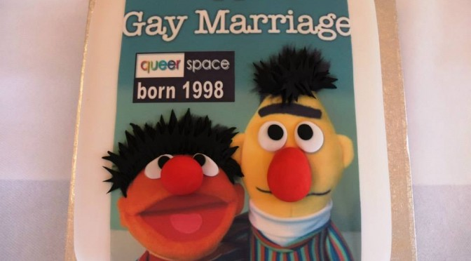 Let them Eat Cake unless it's a Gay Cake as Christian Bakery refuses to bake Bert and Ernie Equal Marriage Cake for Belfast's QueerSpace