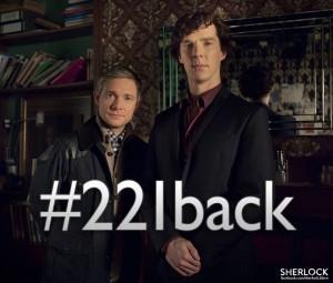 Sherlock BBC hashtag 221back facebook