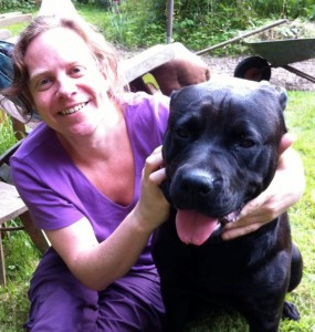 Me with the black dog of depression aka Raven who delivered unconditional cuddles when I was battling suicide