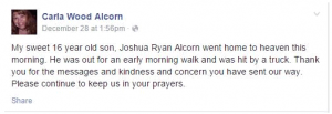 Carla Wood Alcorn facebook post re Leelah-Joshua