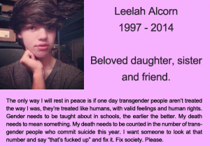 Leelah Alcorn RIP memorial 1997-2014