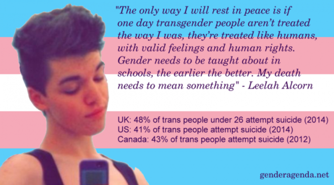 US trans teen Leelah Alcorn takes own life in suicide over society & parental non-acceptance