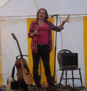 Gypsy in the Field music, stand-up comedy, poetry festival, Aylsham 2012