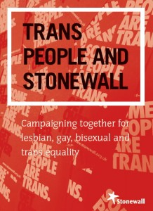 Trans People and Stonewall report