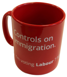 Labour Party Controls on Immigration pledge mug