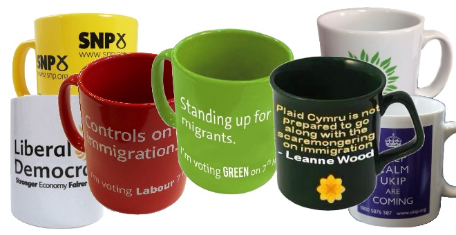 UK Political Party Mugs, General Election 2015 Merchandise, Immigration Controls