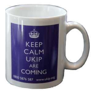 UKIP Political Party mug 'Keep Calm UKIP are coming'
