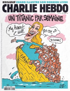 Charlie Hebdo, Un Titanic par semaine, Mediterranean migrant deaths