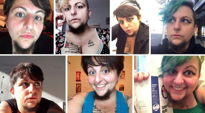 Little Beardy Bear Schwarz Twitter compilation GenderQueer Bearded Lady