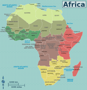 Map Africa Regions Countries WikiMedia