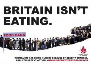 Britain isn't eating poster Church Action on Poverty 2013