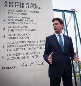Ed Miliband Pledge Promises Stone EdStone
