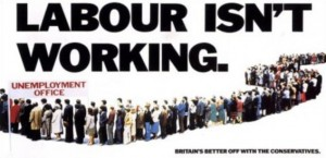 Labour isn't working Conservative's Saatchi poster 1978/79