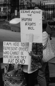 Human Rights Act protest