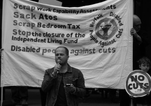 Nick O'Brien speaking at the Norfolk Peoples Assembly Anti-Austerity Rally