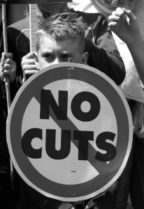 "Family solidarity as kids affected by austerity say ""No Cuts"""