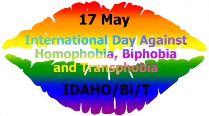 Rainbow mouth kiss IDAHOBiT Day 17 May
