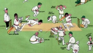 A Silly Guide to Cricket Field Placings on an Australian Tea Towel