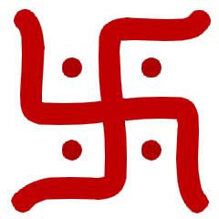 Hindu, Jainist, Buddhist Swastika Symbol