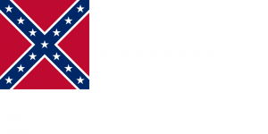 Southern US Second Confederate Flag by William T Thompson