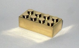Gold 14k LEGO Brick