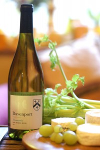 Horsmonden Dry White Wine, Davenport Vineyard 2013 with a trio of goat's cheese, photo by Katy Jon Went