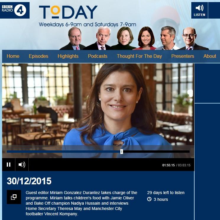 Miriam Gonzalez Durantez Guest Editor BBC Radio 4 Today