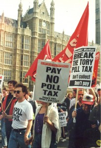 Poll Tax Riot, 31 Mar 1990, photo by James Bourne