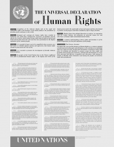 Universal Declaration of Human Rights (UDHR) 1948