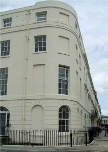 Window Tax blocked up windows, Portland Street, Southampton, photo by Gary Burt