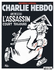 Charlie Hebdo anniversary cover 7 January 2016
