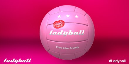 Ladyball pink football kiss