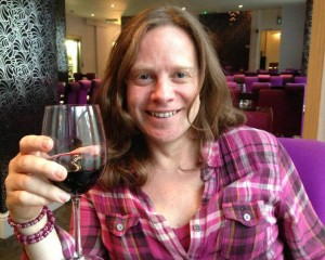 Having a glass of wine at Rare Steakhouse and Grill