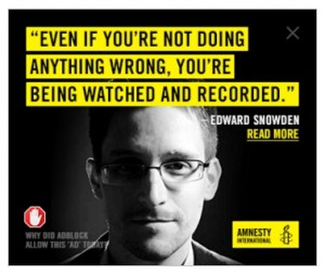 Being Watched Quote, Edward Snowden, Amnesty