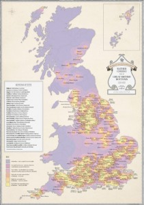 Cheeky Map of British Bottoms