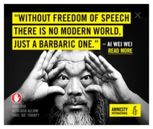 Freedom of Speech Quote, Ai Wei Wei, Amnesty